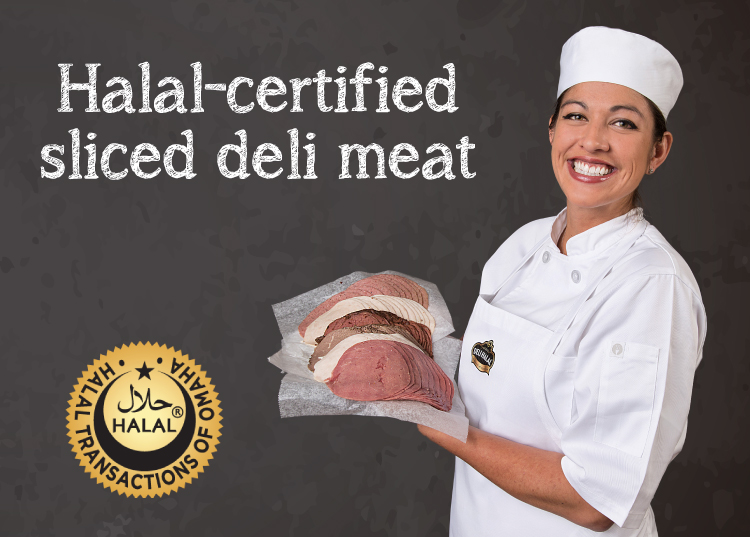 halal-certified meat & cheese products